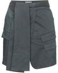 Charm's Knot Waist Jacket Skirt - Gray
