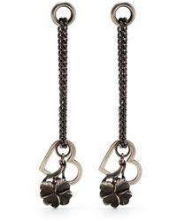 Werkstatt:münchen Heart-pendant Earrings - Metallic