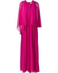 MSGM Плиссированное Платье - Розовый