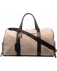 Eleventy Leather Holdall Bag - Black