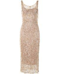 Dolce & Gabbana Kleid mit Perlen - Natur