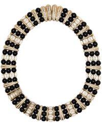 Dior ラインストーン ネックレス - ブラック