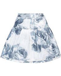 Marchesa - Rose Print Skirt - Lyst