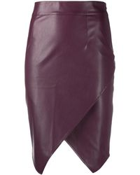 Patrizia Pepe Faux-leather Skirt - Red