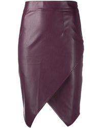 Patrizia Pepe Jupe courte en cuir artificiel - Rouge