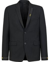 Fendi ロゴ ジャケット - ブラック