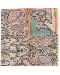 Etro Paisley-print Silk Scarf - Multicolour