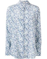 Stella McCartney フローラル シャツ - ブルー