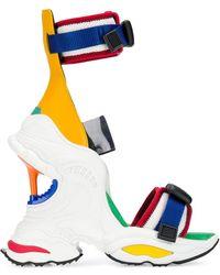 DSquared² Wedge Heel Sneaker Sandals - White