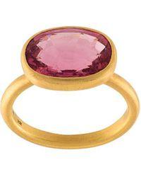 Marie-hélène De Taillac | Pink Tourmaline Oval Ring | Lyst