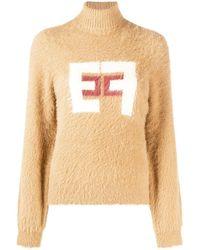 Elisabetta Franchi ロゴ セーター - ブラウン