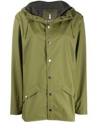 Rains Chubasquero con capucha y cordón - Verde