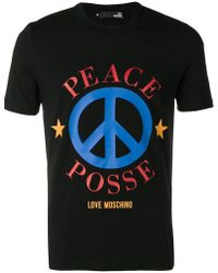 Love Moschino - Peace Posse T-shirt - Lyst