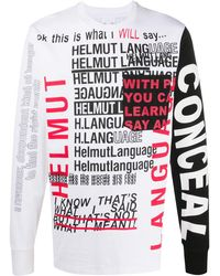 Helmut Lang - プリント Tシャツ - Lyst