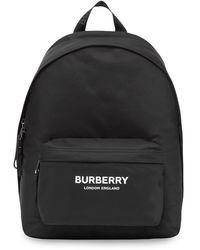 Burberry Rucksack aus ECONYL® mit -Logo - Schwarz