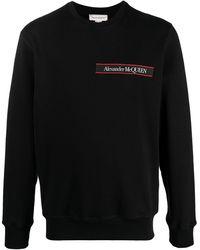 Alexander McQueen Толстовка С Логотипом - Черный