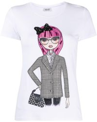 Liu Jo - T-shirt à imprimé graphique - Lyst