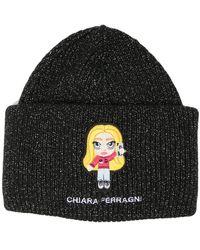 Chiara Ferragni Chiara リブニット ビーニー - ブラック