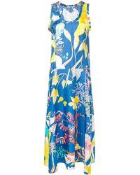 Agnona フローラル ドレス - ブルー