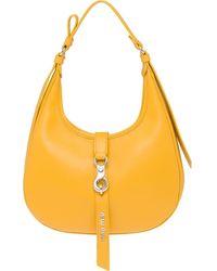 Miu Miu Leather Hobo Bag - Yellow