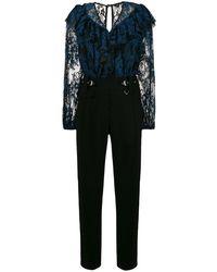 Three Floor Lace detailed jumpsuit - Noir