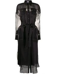 Brunello Cucinelli シルク シャツドレス - ブラック