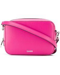 Ganni ロゴ ショルダーバッグ - ピンク