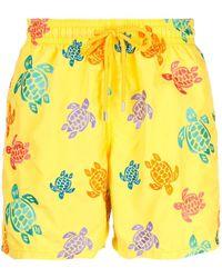 Vilebrequin Turtle Print Swim Shorts - Yellow