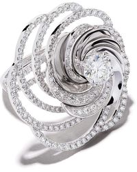 De Beers 18kt white gold Aria diamond cocktail ring - Weiß