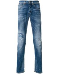 Dondup - Distressed Effect Jeans - Lyst