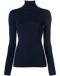 ODEEH - Fitted Turtleneck Jumper - Lyst