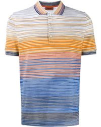 Theory Men/'s Sunset Multi Storm Linen Stripe Crew-Neck Short Sleeve T-Shirt