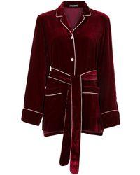Dolce & Gabbana Fluwelen Blouse - Rood