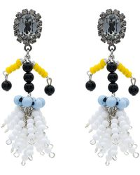 Marni - Beaded Clip-on Earrings - Lyst