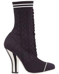 Fendi Ankle Boots Rockoko - Schwarz