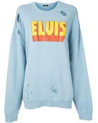 R13 - Elvis ダメージ スウェットシャツ - Lyst