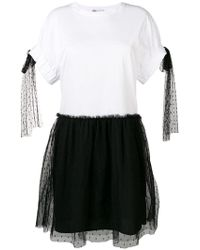 22dc29000f2 Lyst - RED Valentino T-shirt Dress With Tulle Skirt in White