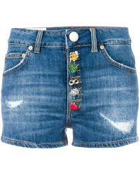 Dondup Shorts con bottoncini decorati - Blu