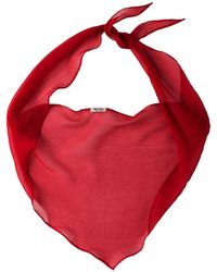 Miu Miu Basic Chiffon Scarf - Red