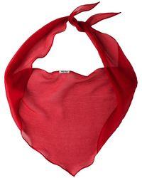 Miu Miu Basic Chiffon Scarf - Red