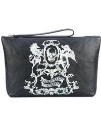 Alexander McQueen - Skull Coat Of Arms Clutch - Lyst