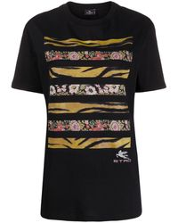 Etro グラフィック Tシャツ - ブラック