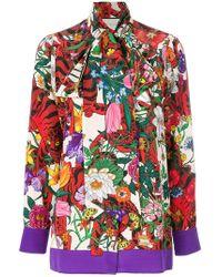 Gucci - Flora Tiger Print Shirt - Lyst