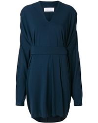 Gianluca Capannolo - Cinched Waist V-neck Dress - Lyst