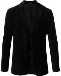Giorgio Armani ベルベット ジャケット - ブラック