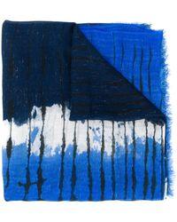 Faliero Sarti Écharpe à imprimé tie dye - Bleu