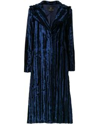 Unreal Fur Cappotto midi - Blu