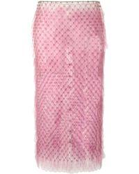 Paco Rabanne ペンシルスカート - ピンク