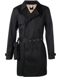Matthew Miller Midi trench coat - Schwarz