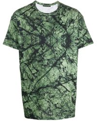 Mr & Mrs Italy Marble-printed Oversized T-shirt For Man - Green